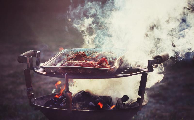 BBQトラブル煙