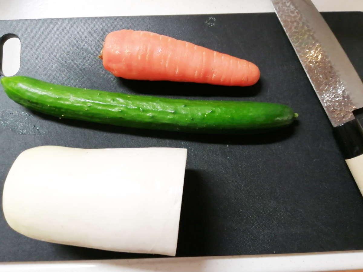 ぬか漬けにする野菜