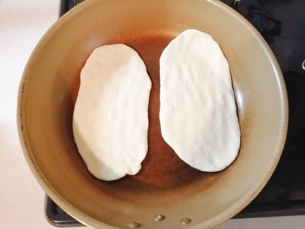 フライパンで両面焼く